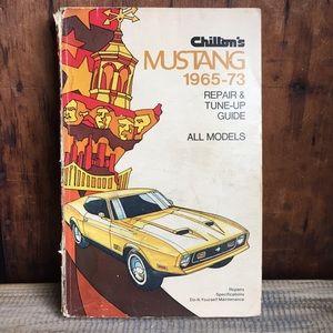 Ford Mustang repair book